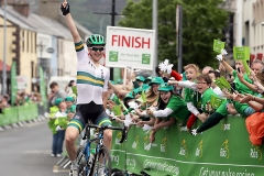 REPRO FREE***PRESS RELEASE NO REPRODUCTION FEE*** 2017 An Post Ras Stage 4, Bundoran to Buncrana 24/5/2017 Cycling Australia's Michael Storer celebrates winning the fourth stage of The Ras Mandatory Credit ©INPHO/Ryan Byrne