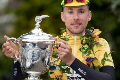 REPRO FREE***PRESS RELEASE NO REPRODUCTION FEE*** 2017 An Post Ras Stage 8, Ardee to Skerries 28/5/2017 Yellow jersey holder James Gullen of JLT Condor celebrates winning the An Post Ras Mandatory Credit ©INPHO/Morgan Treacy